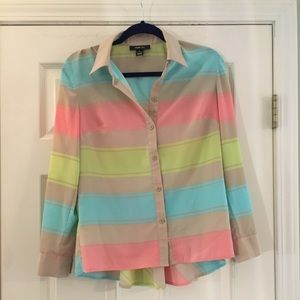 Style & Company - Colorful Striped Top - Sz S